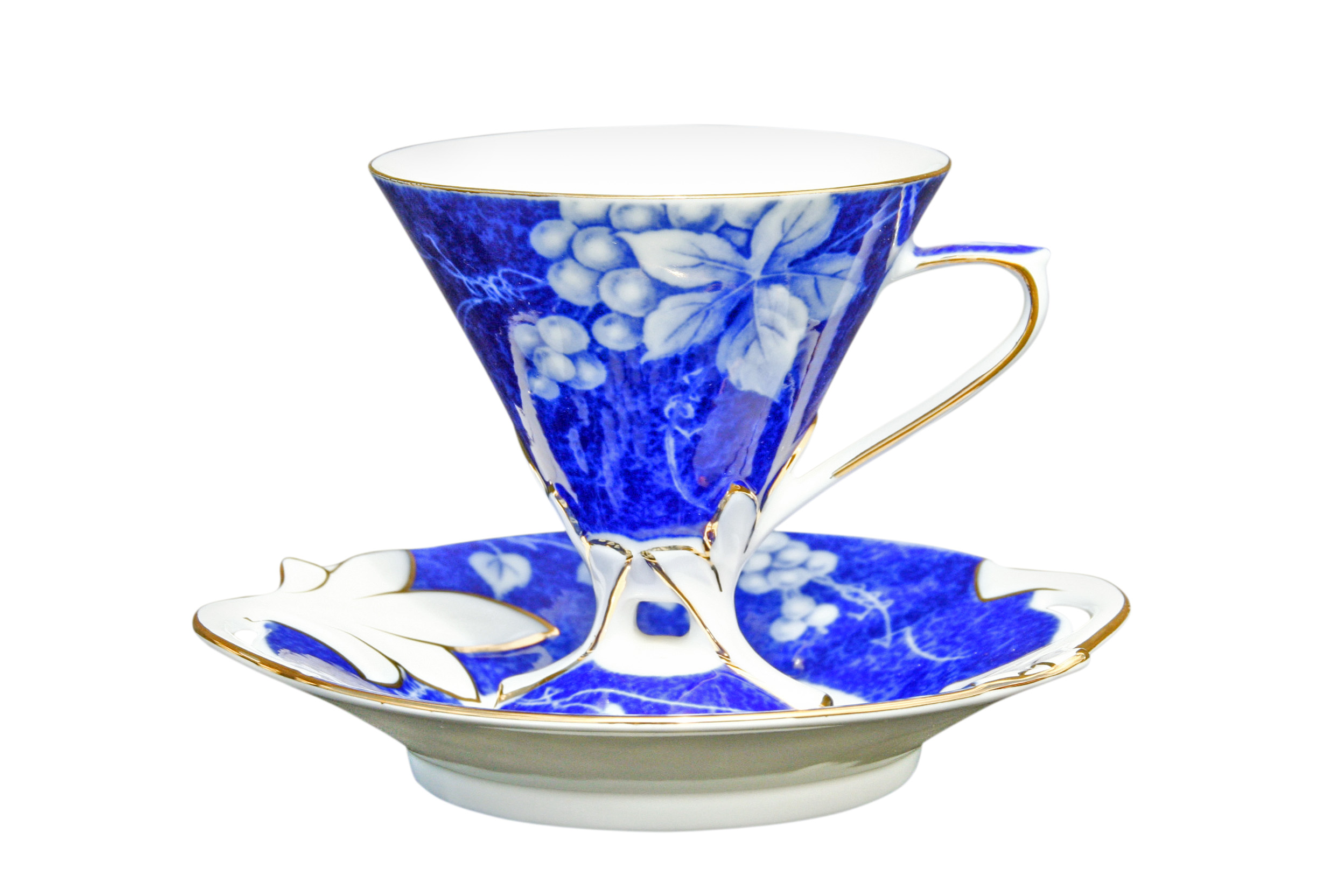 Grape Blue 1 Cup & Saucer Set