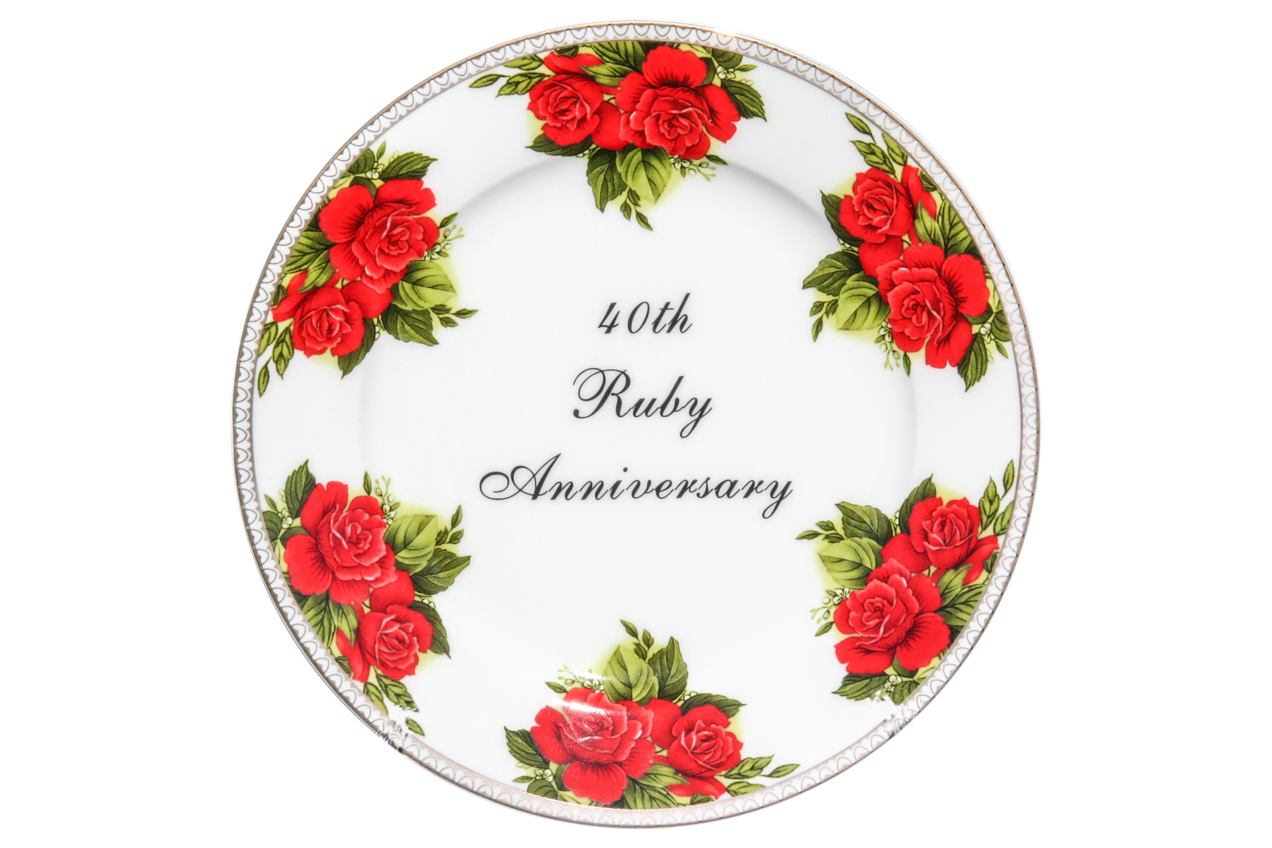 40th Ruby Anniversary Display Plate