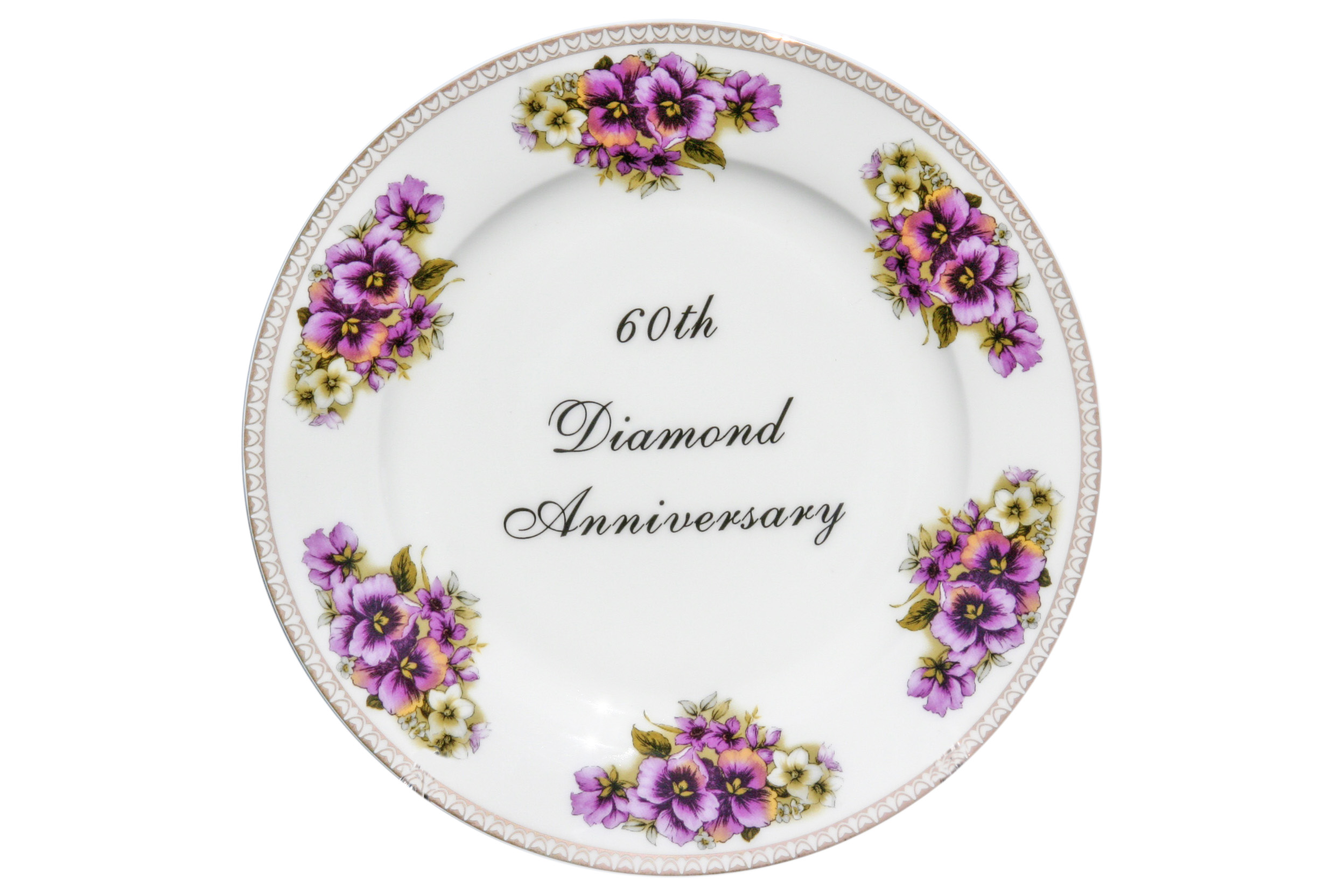 8' 60th Diamond Anniversary Plate