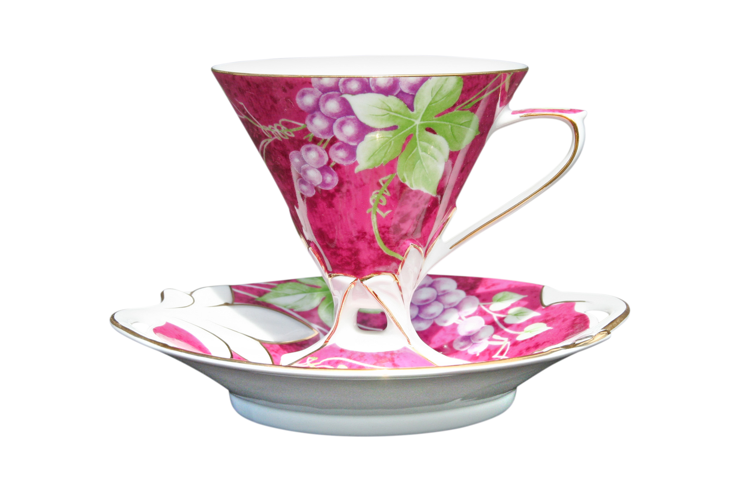 Grape Maroon 1 Cup & Saucer set