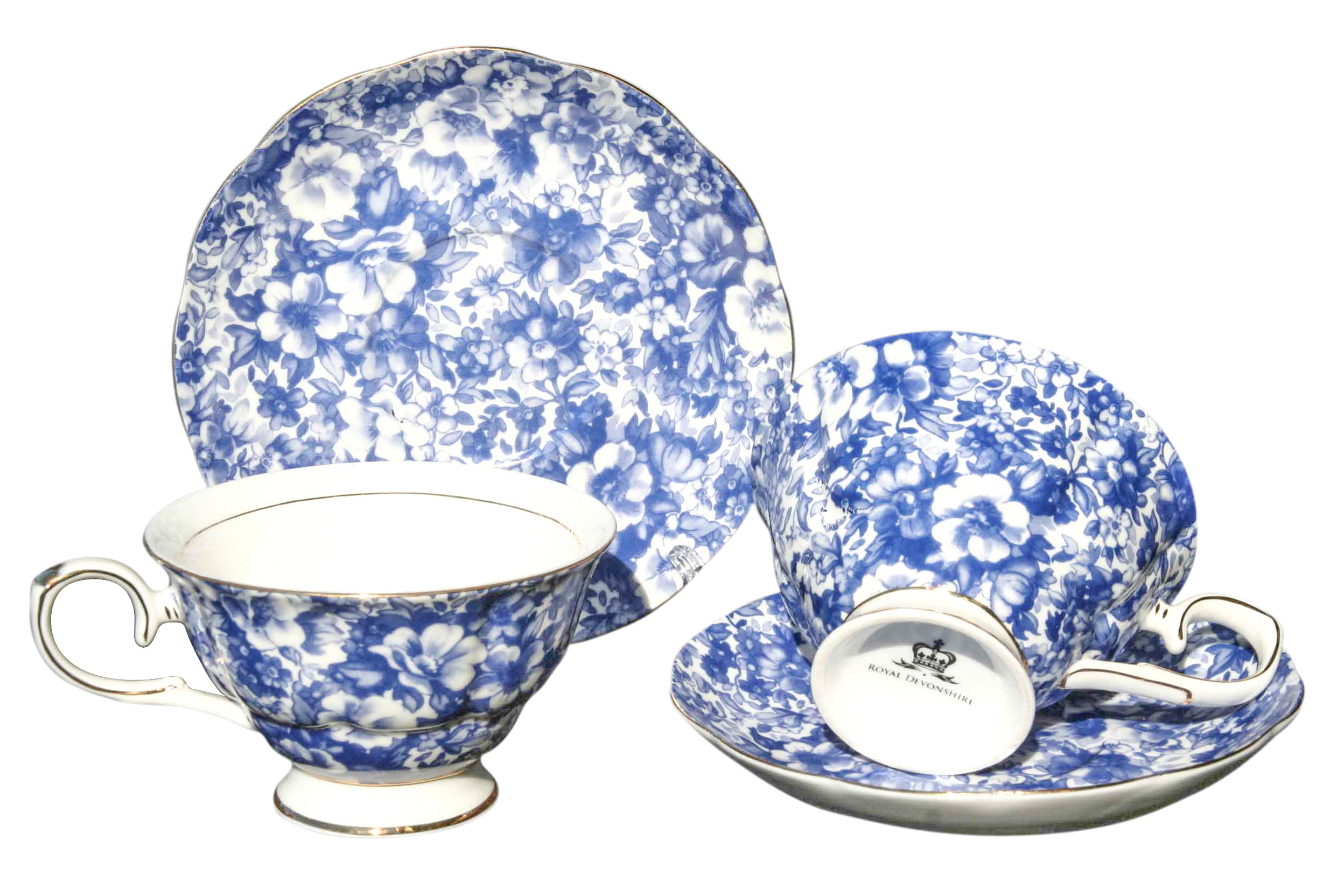 Blue Meadow 2 Cup & Saucer Set