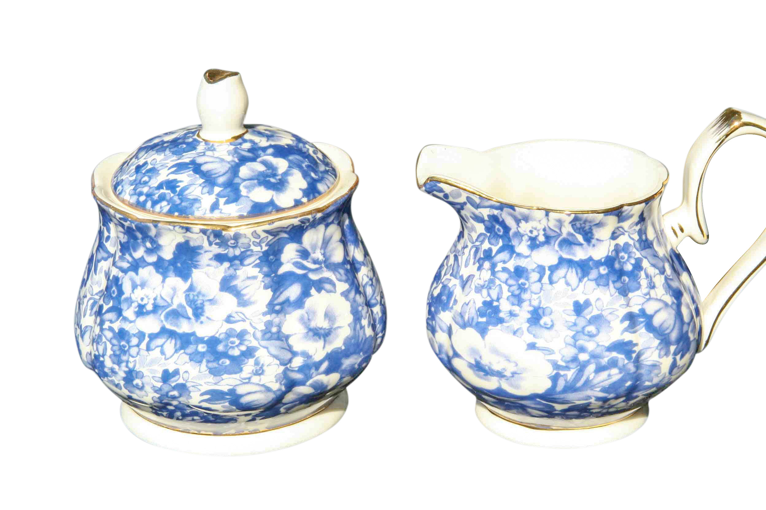 Blue Meadow Sugar & Creamer Set