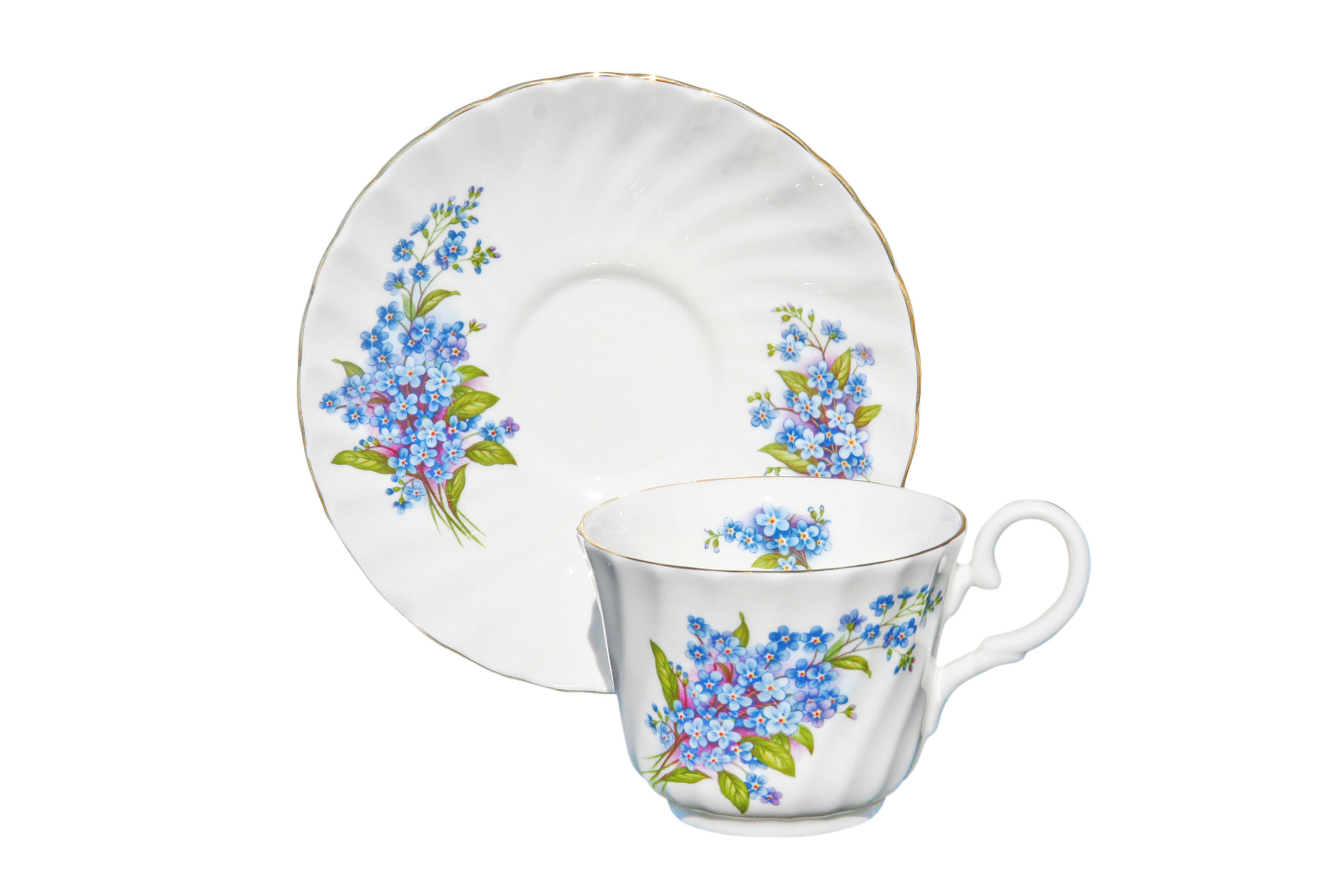 Forget Me Not 1 Cup and Saucer Set