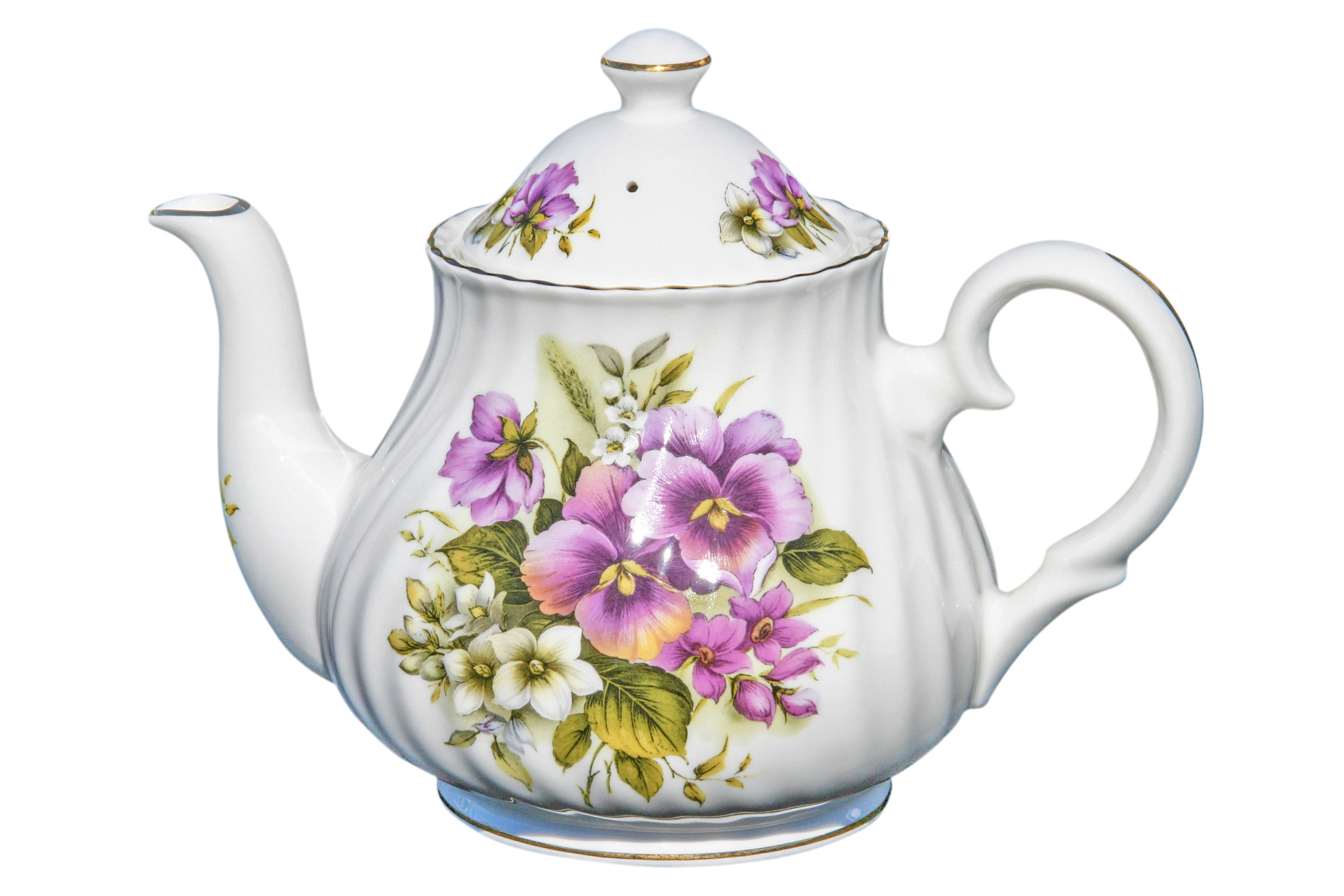 Pansy 6 Cup Teapot