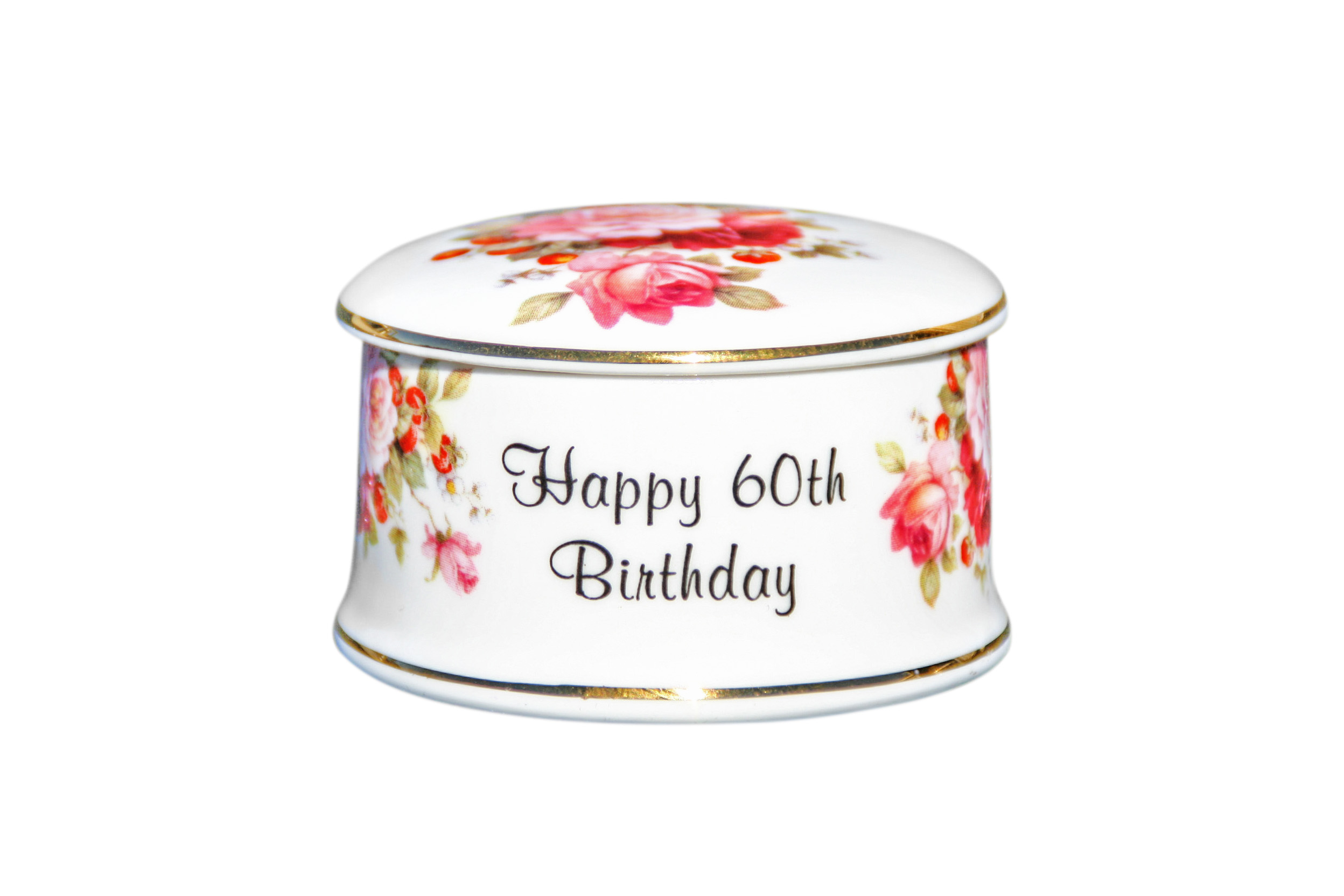 60th Birthday Trinket Box
