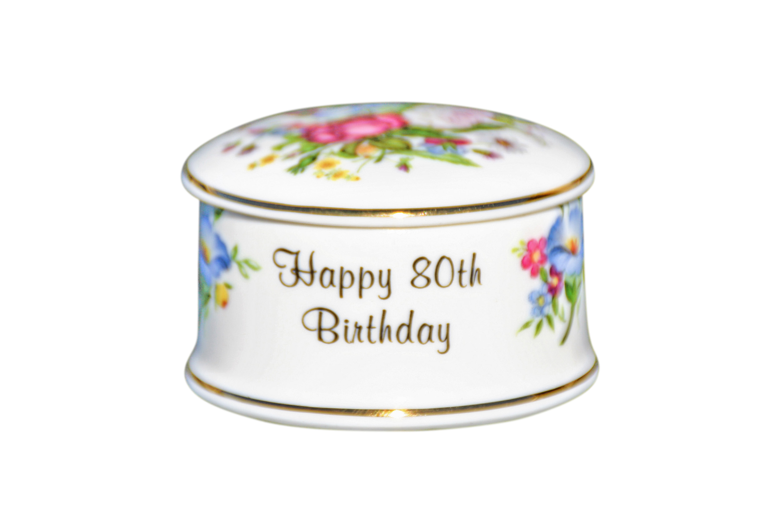 80th Birthday Trinket Box