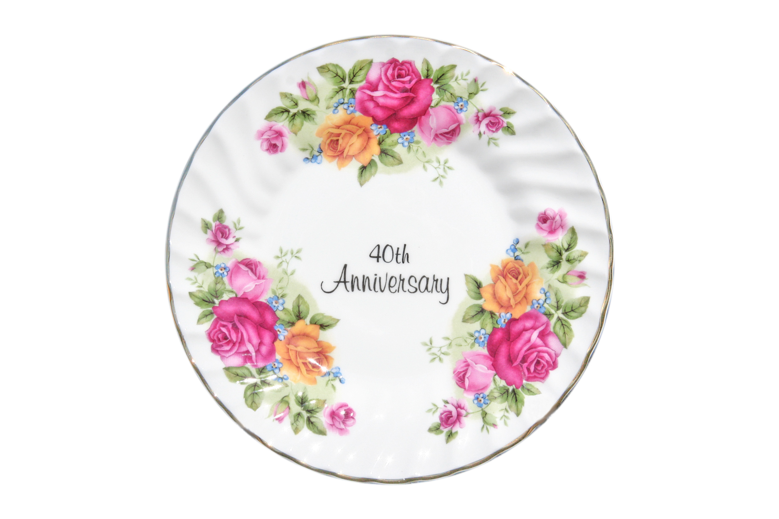 40th Anniversary Plate (6 inch) with stand