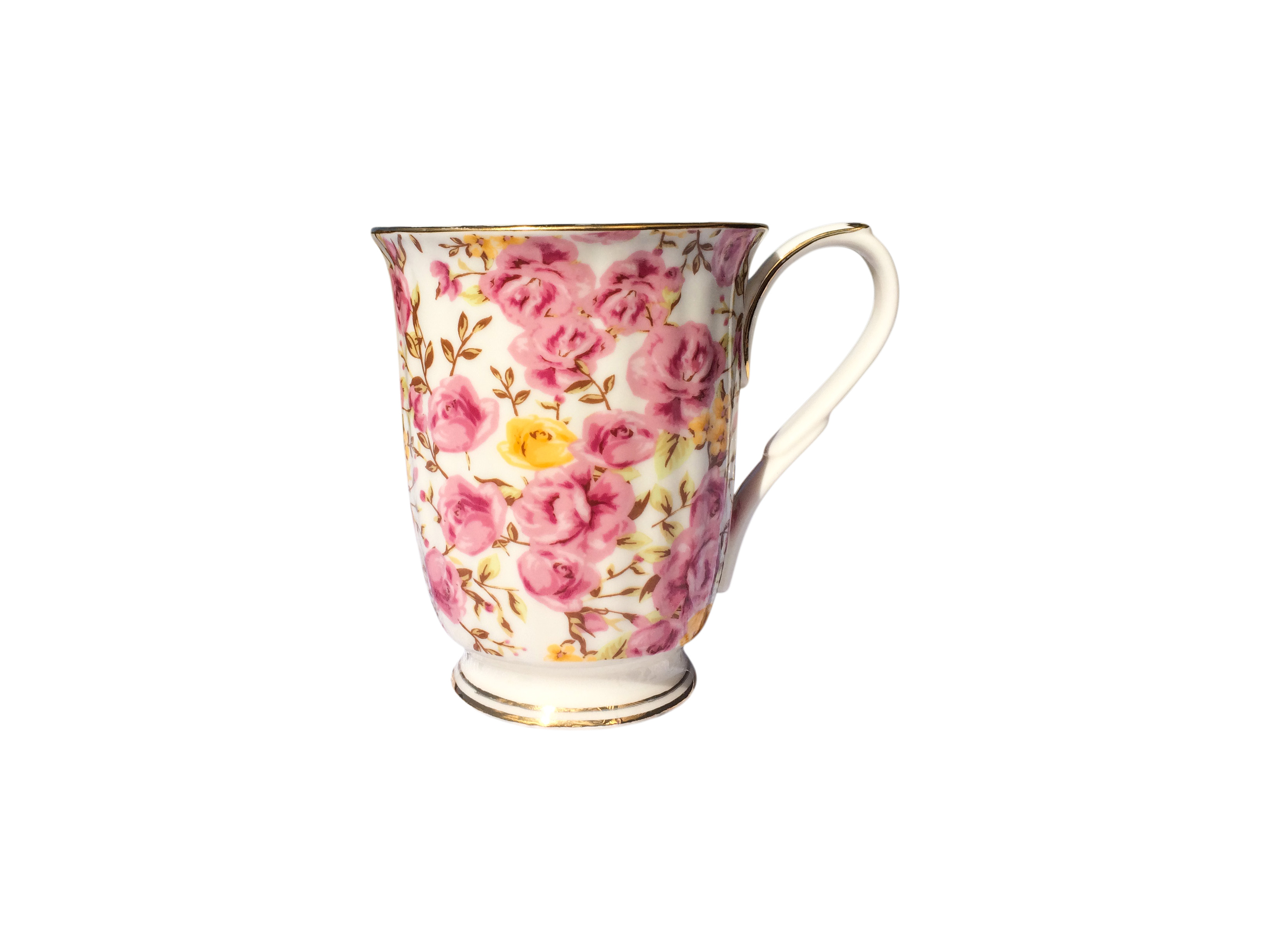 Rose Candy Bloom Chintz Beaker