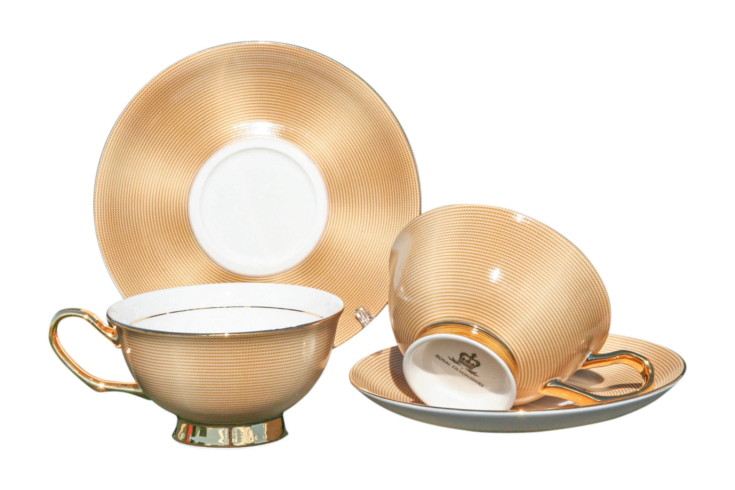 Egyptian Gold 2 Cup & Saucer Set