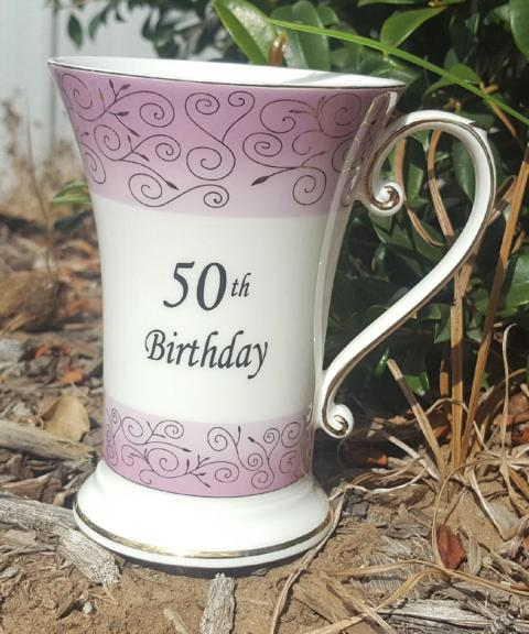 50th Birthday Tall Beaker