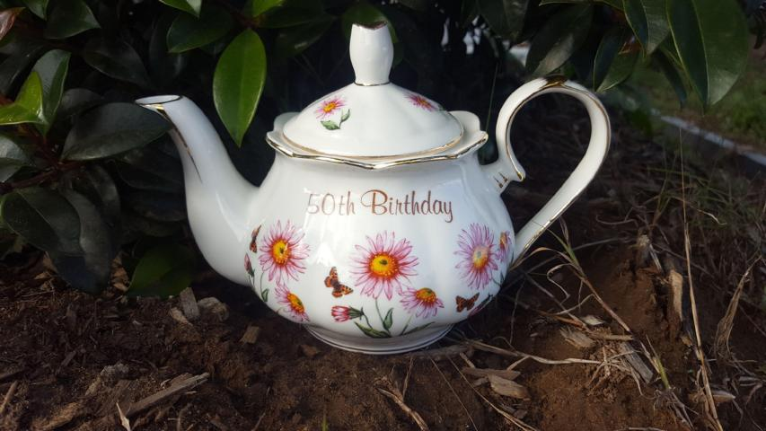 50th Birthday Teapot