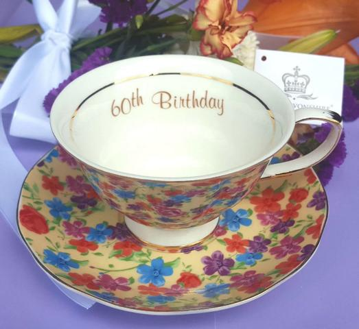60th Birthday Cup & Saucer Set