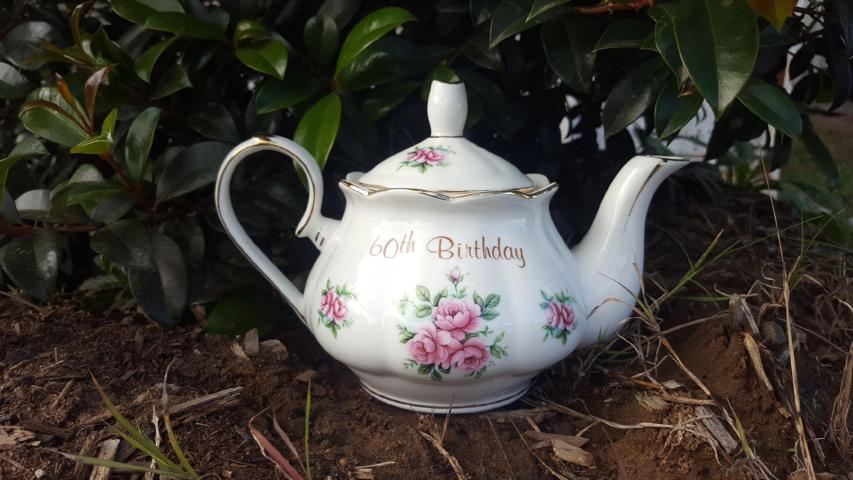 60th Birthday Teapot