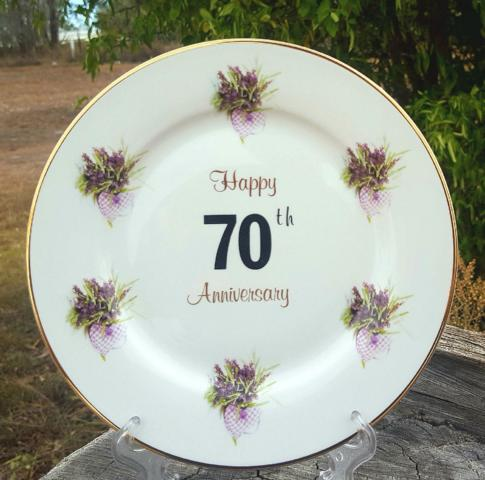 70th Anniversary Plate (custom) - Click Image to Close