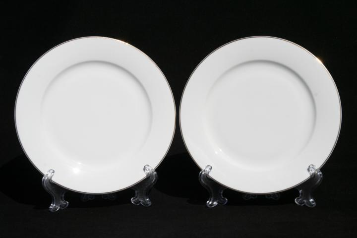White Dove 2pc Sideplate Set