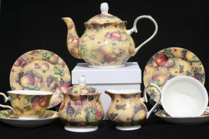 Country Fruit Full Tea Set