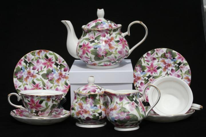 lily Rainbow Full Teaset