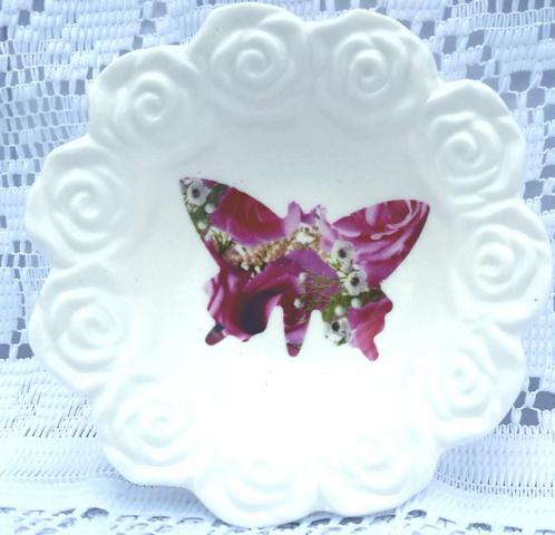 Candy Rose Butterfly Rosebowl