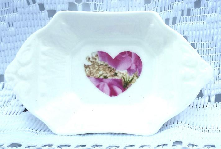 Candy Rose heart teadrip tray