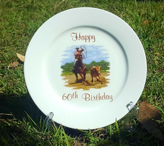 60th Birthday Stockman plate