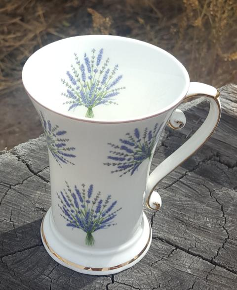 Lavender Love Tall Beaker (Custom)