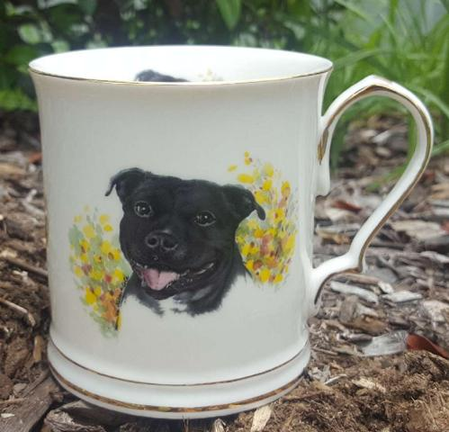 Staffy Tankard Custom
