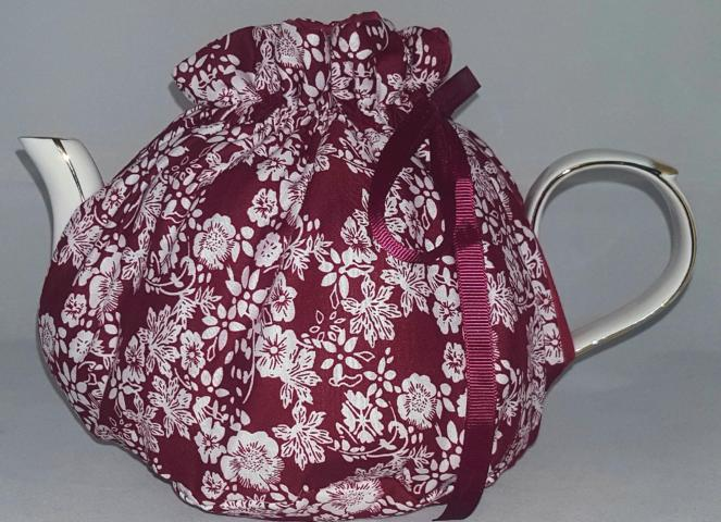 Burgandy Bloom Tea Cosy