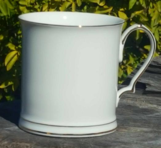 White 400ml Tankard