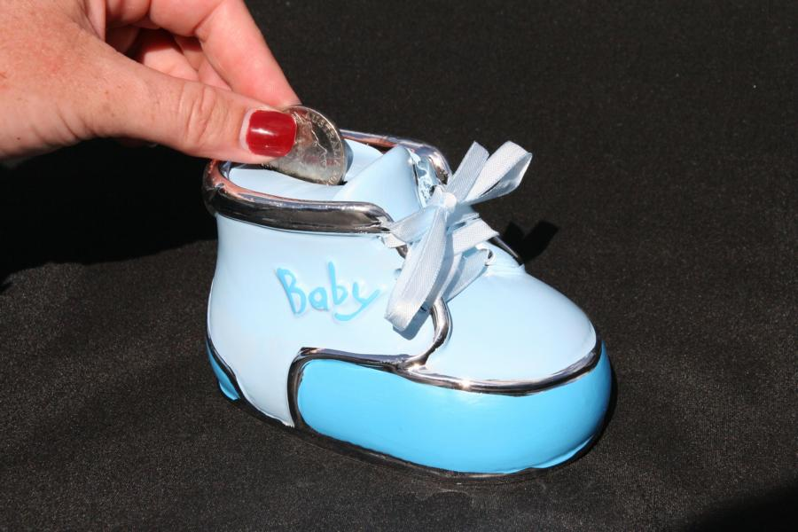 Baby Money Box Bootie Blue
