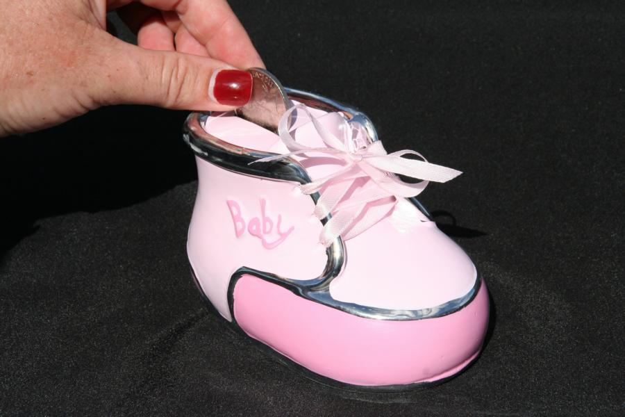 Baby Money box Bootie Pink