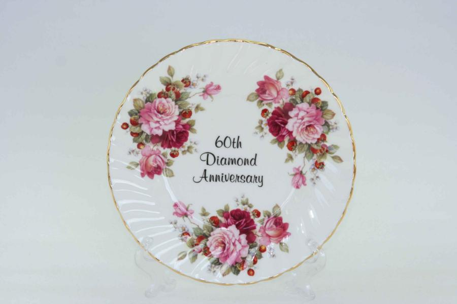 60th Anniversary Plate (6 inch) with stand