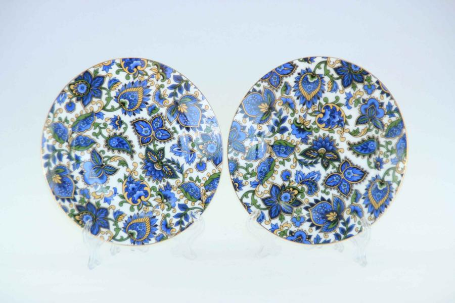 Paisley Blue 2pc Sideplate Set