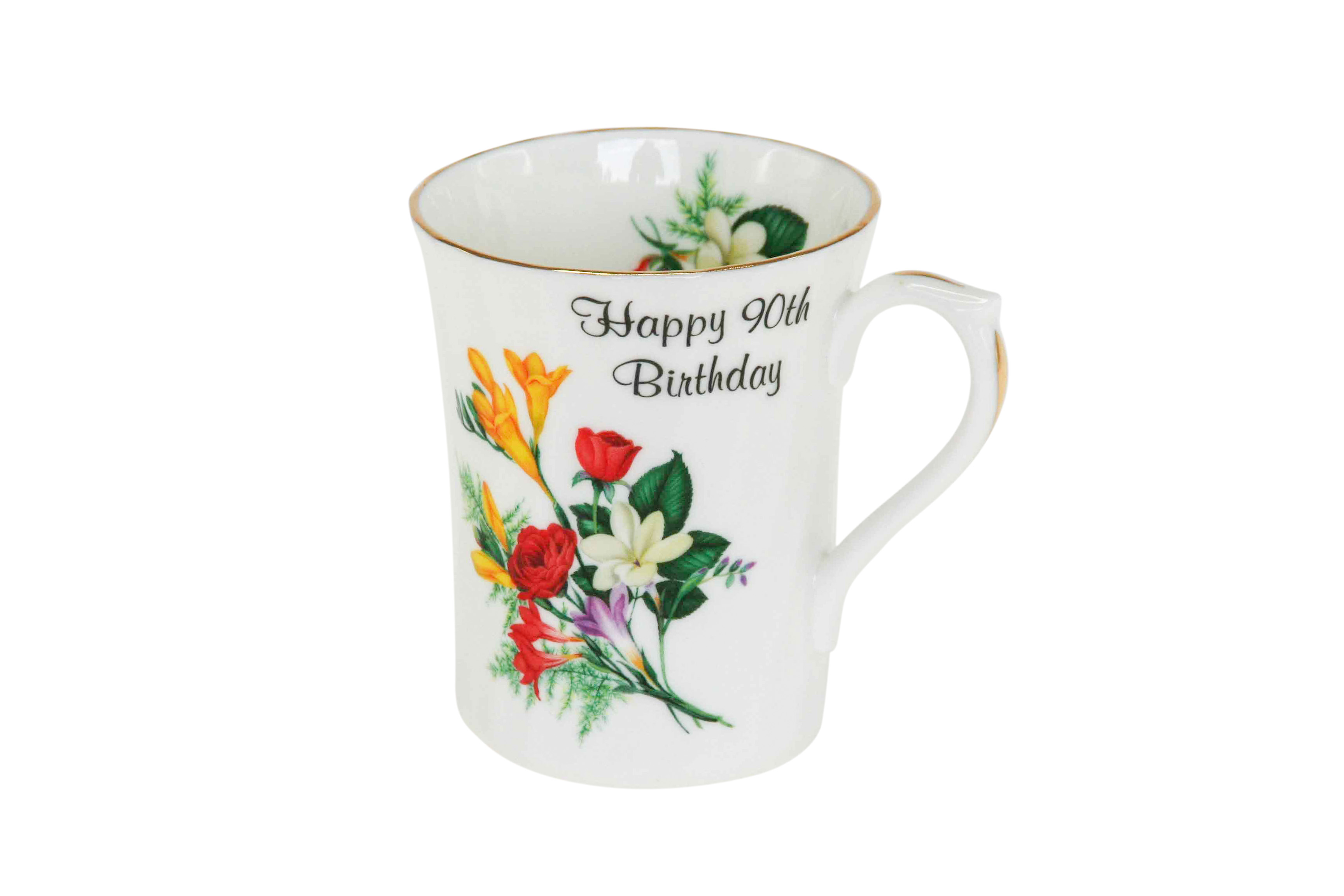 90th Birthday Swirl Mug