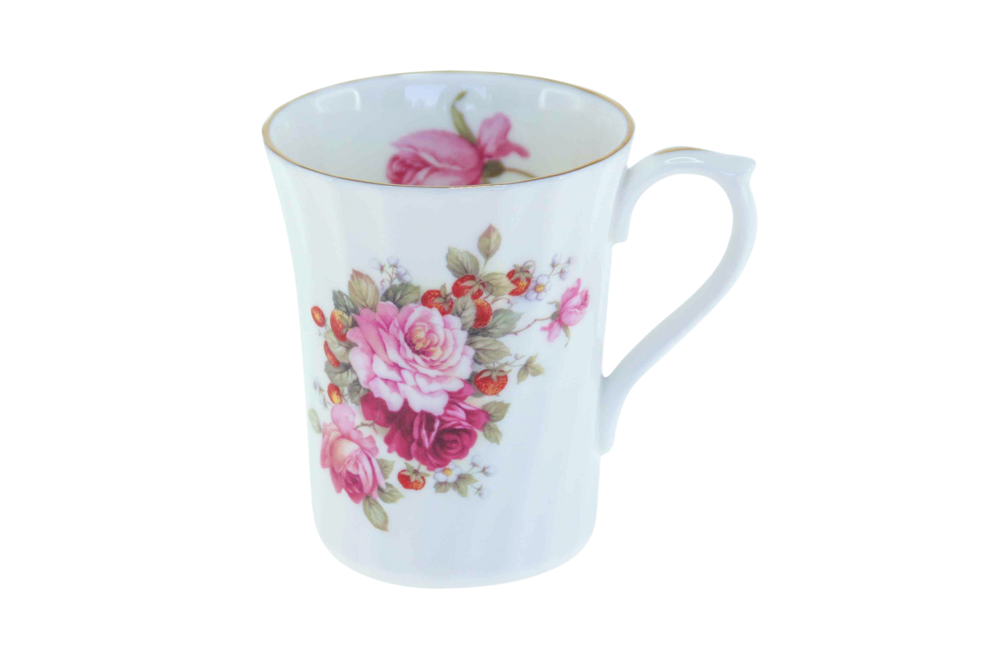 Strawberry Rose Swirl Mug