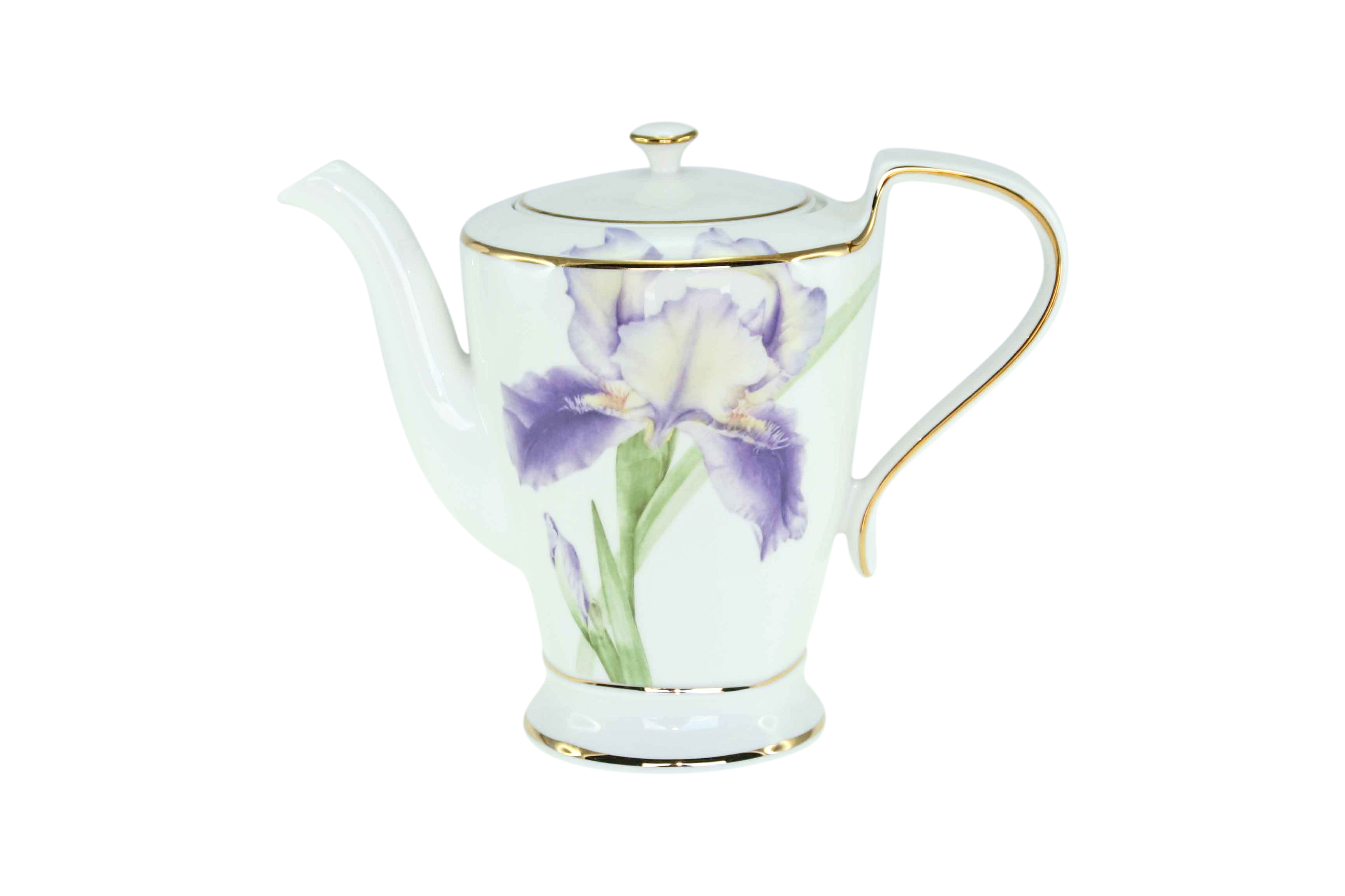 Purple Iris Teapot