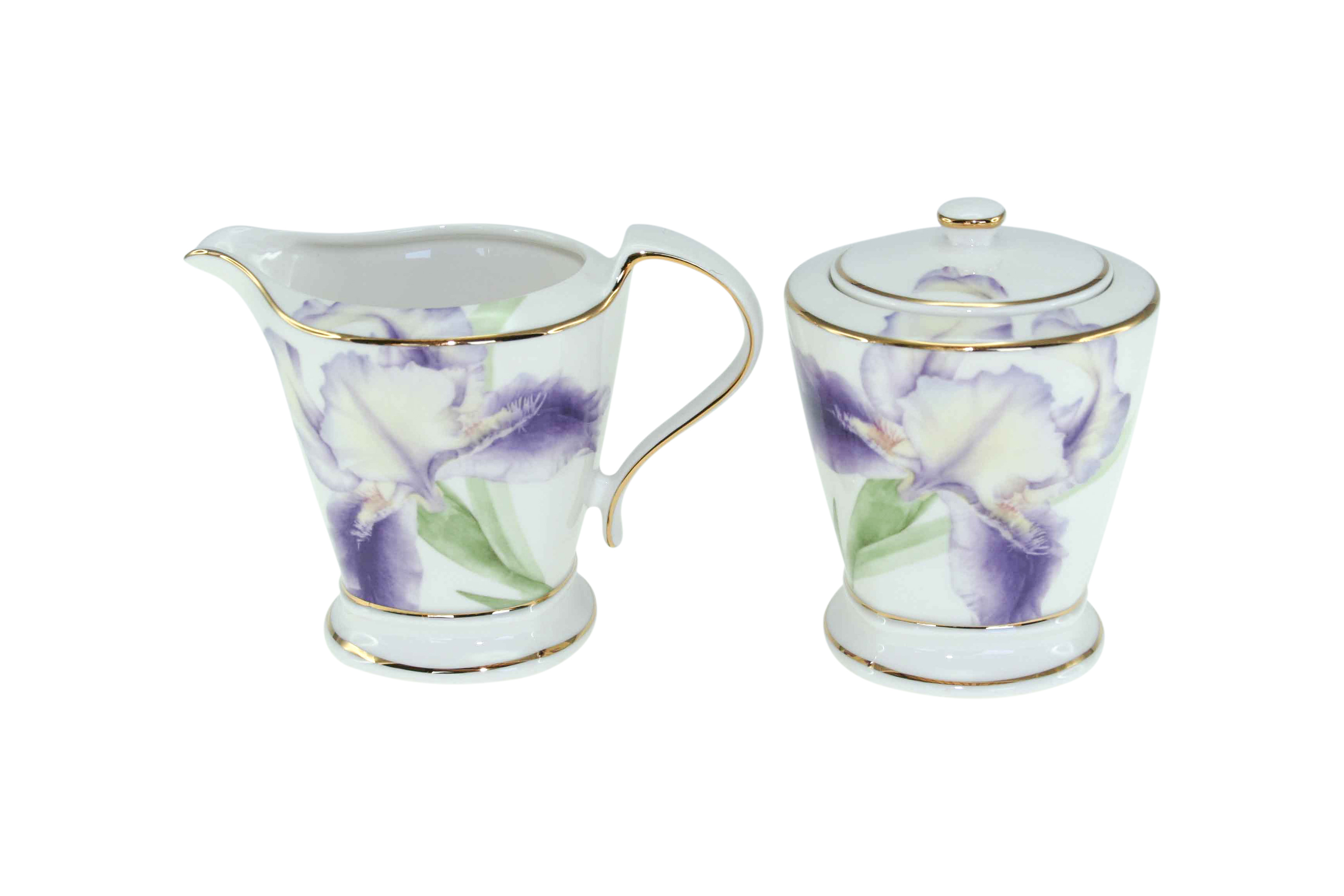 Purple Iris Milk & Sugar Set