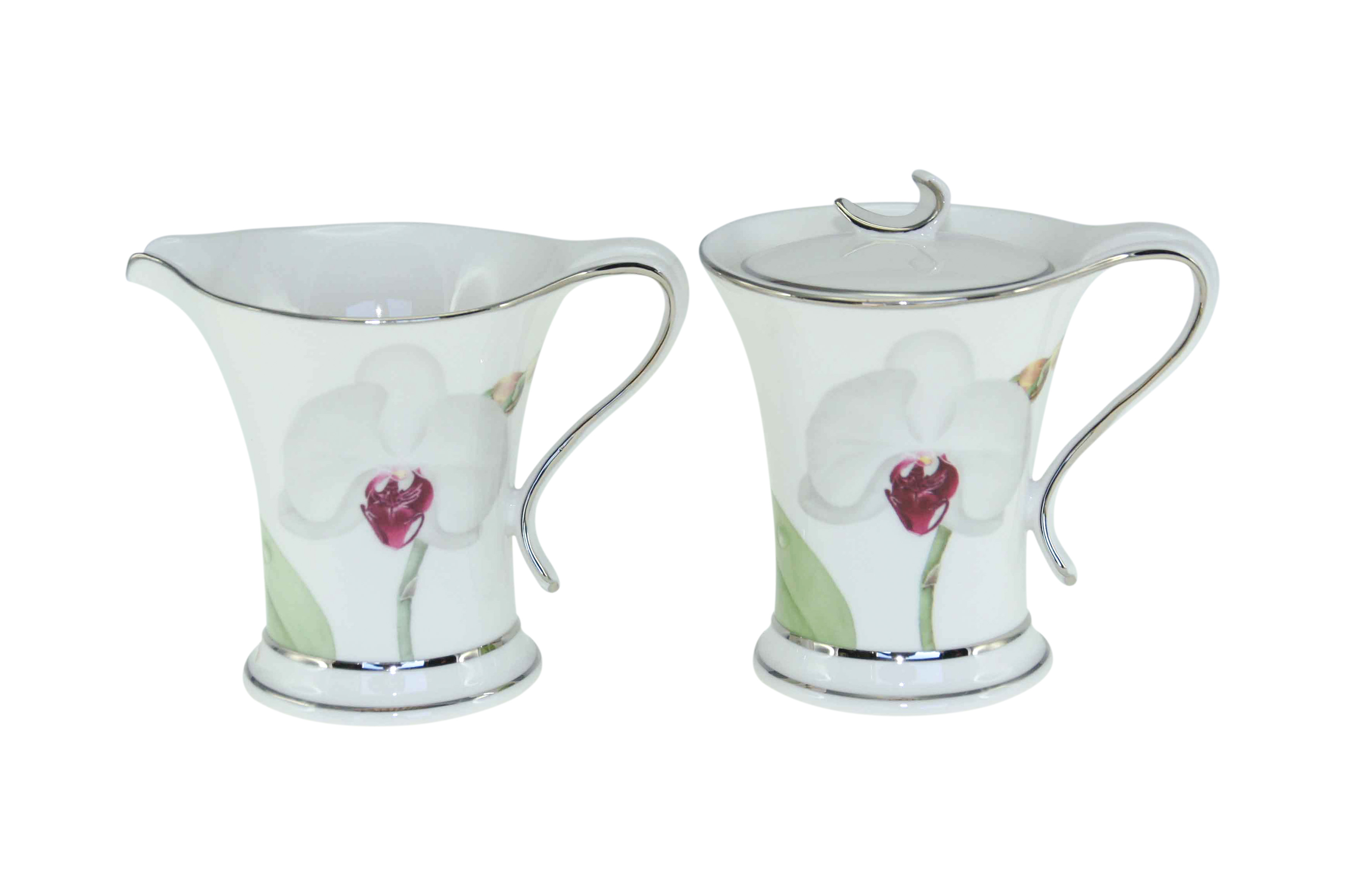White Flower Milk & Sugar Set