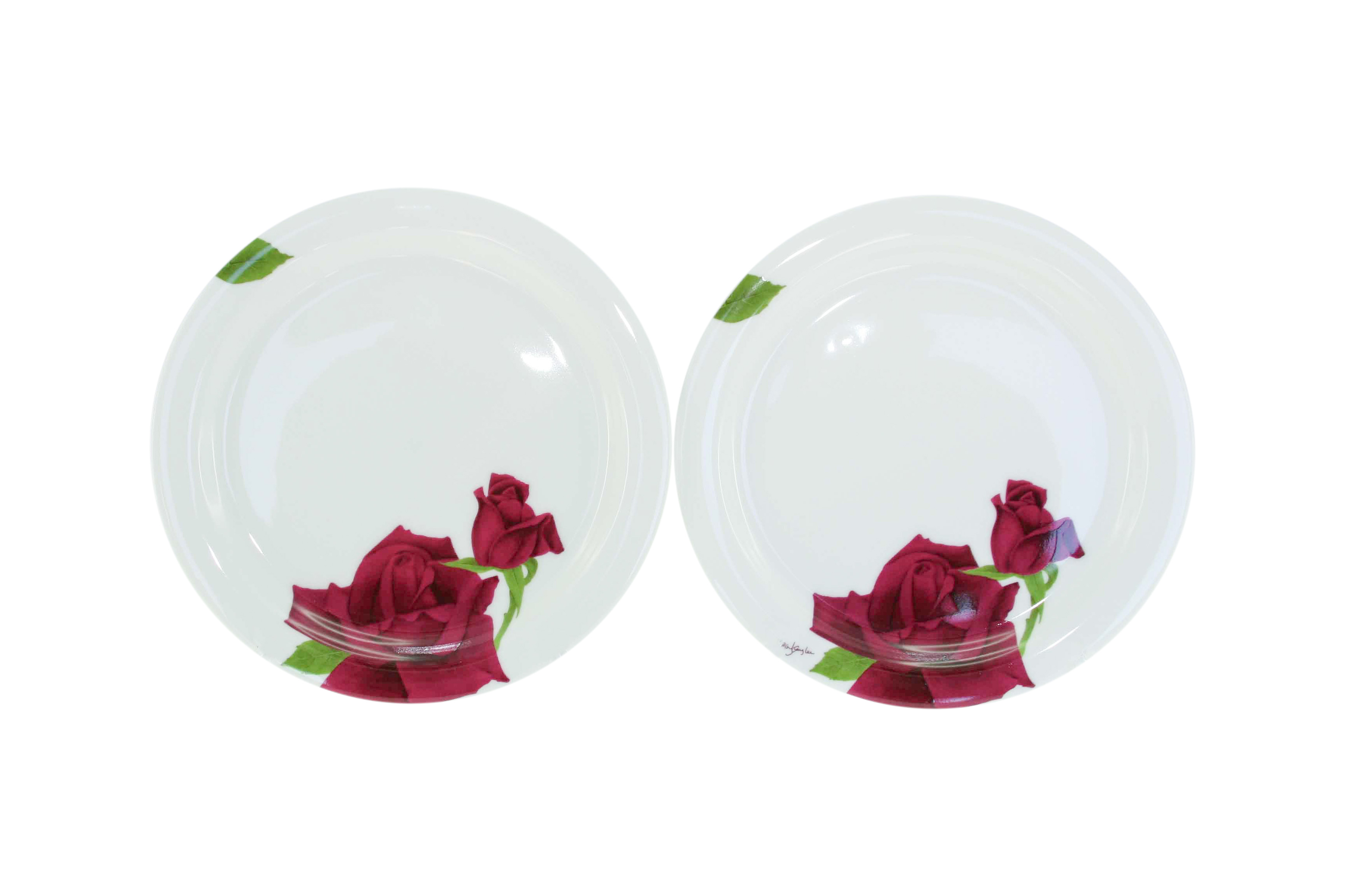 Maroon Rose Sideplate Set