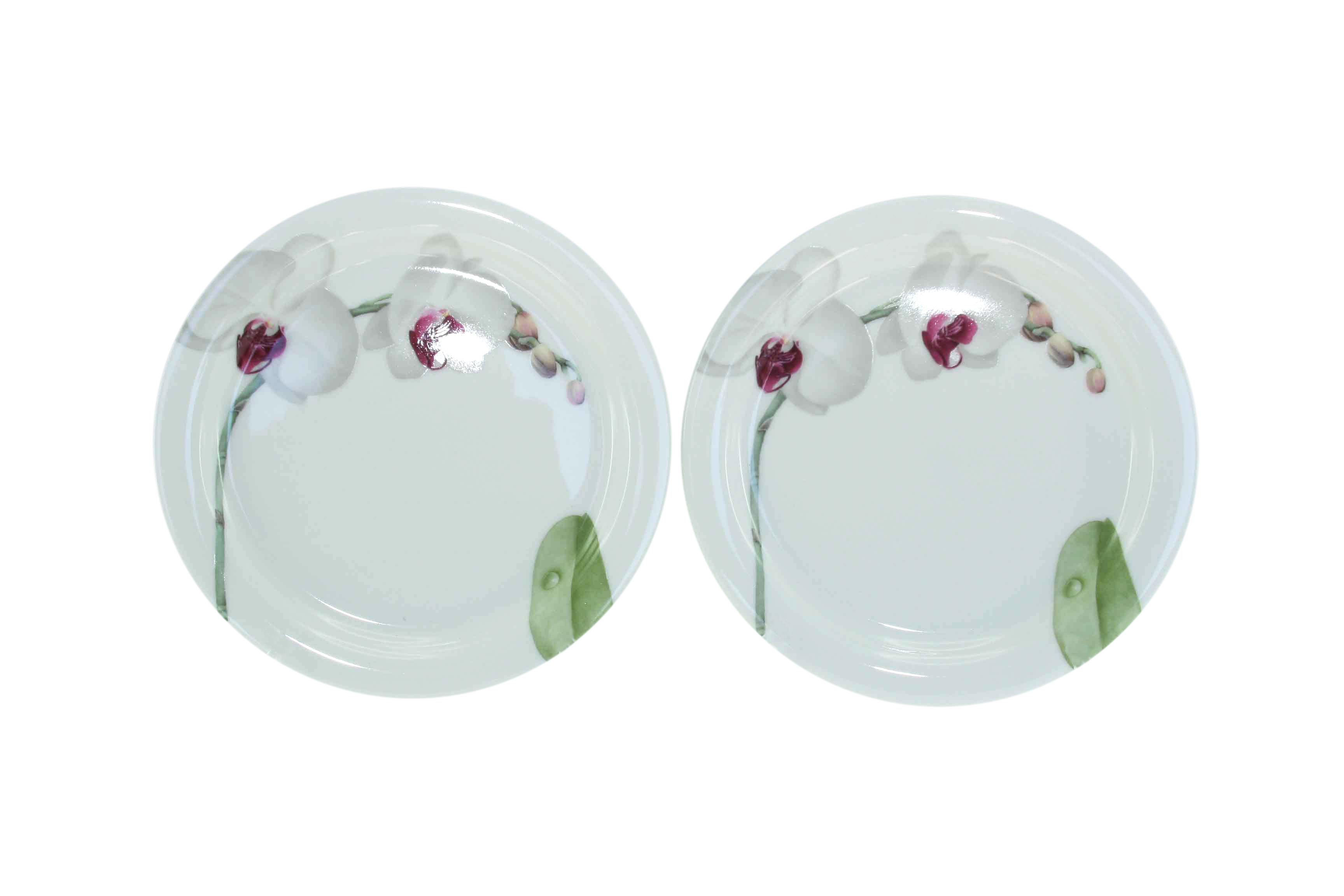 White Flower Sideplate Set