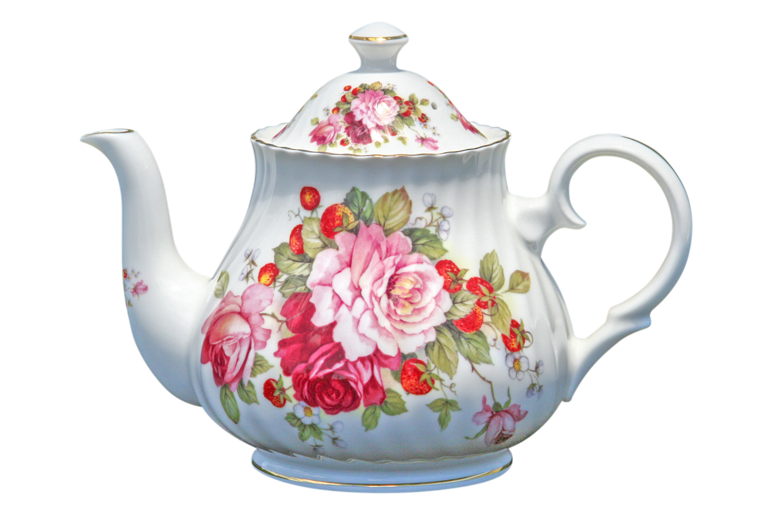 Strawberry Rose 2 cup Teapot