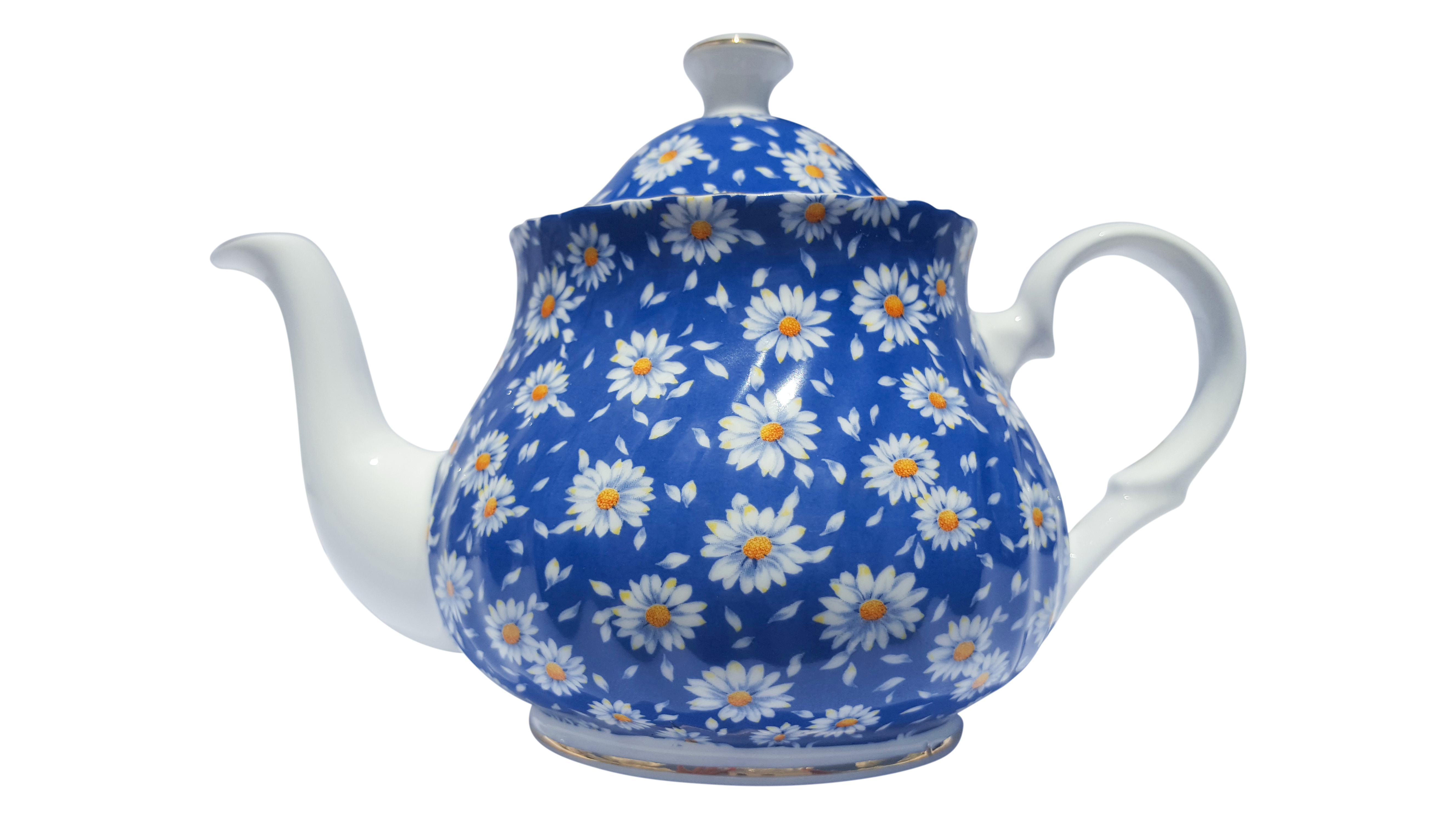 Blue Daisy Chintz 2 Cup Teapot