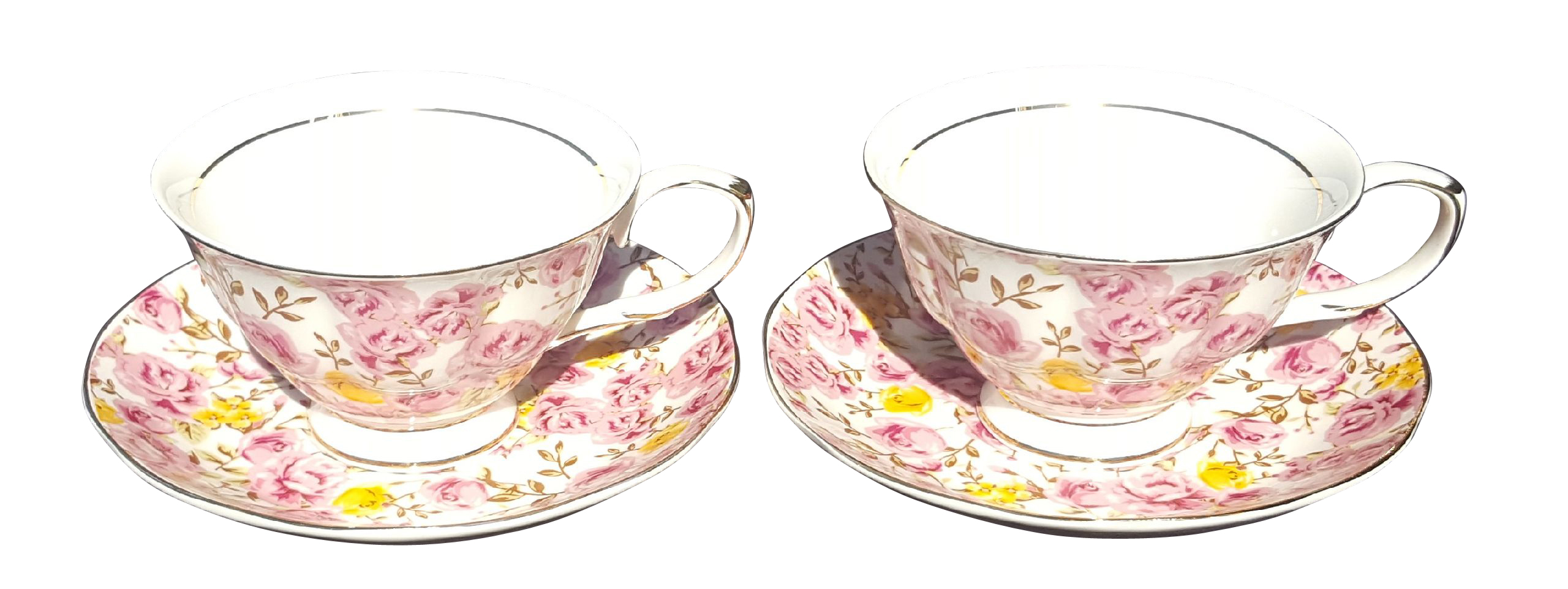 Candy Rose Bloom 2 cup & saucer set