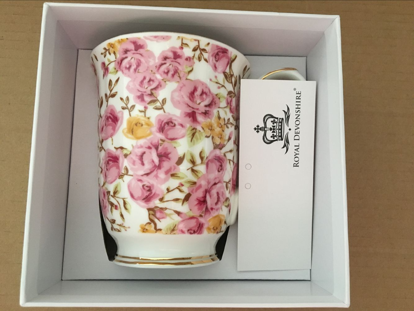Candy Rose Bloom Chintz Beaker