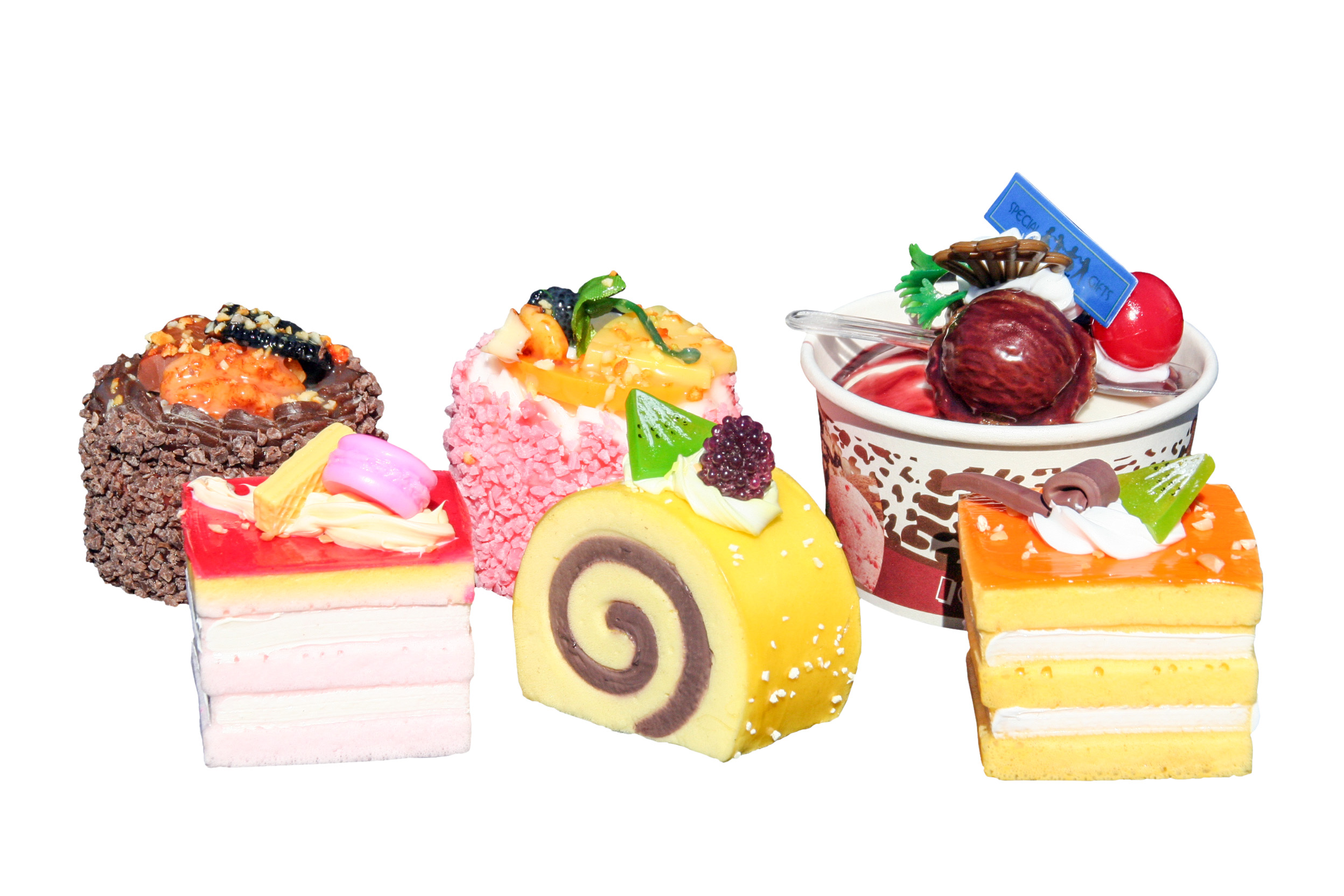 Foam Mini Cakes Assorted Pk 6