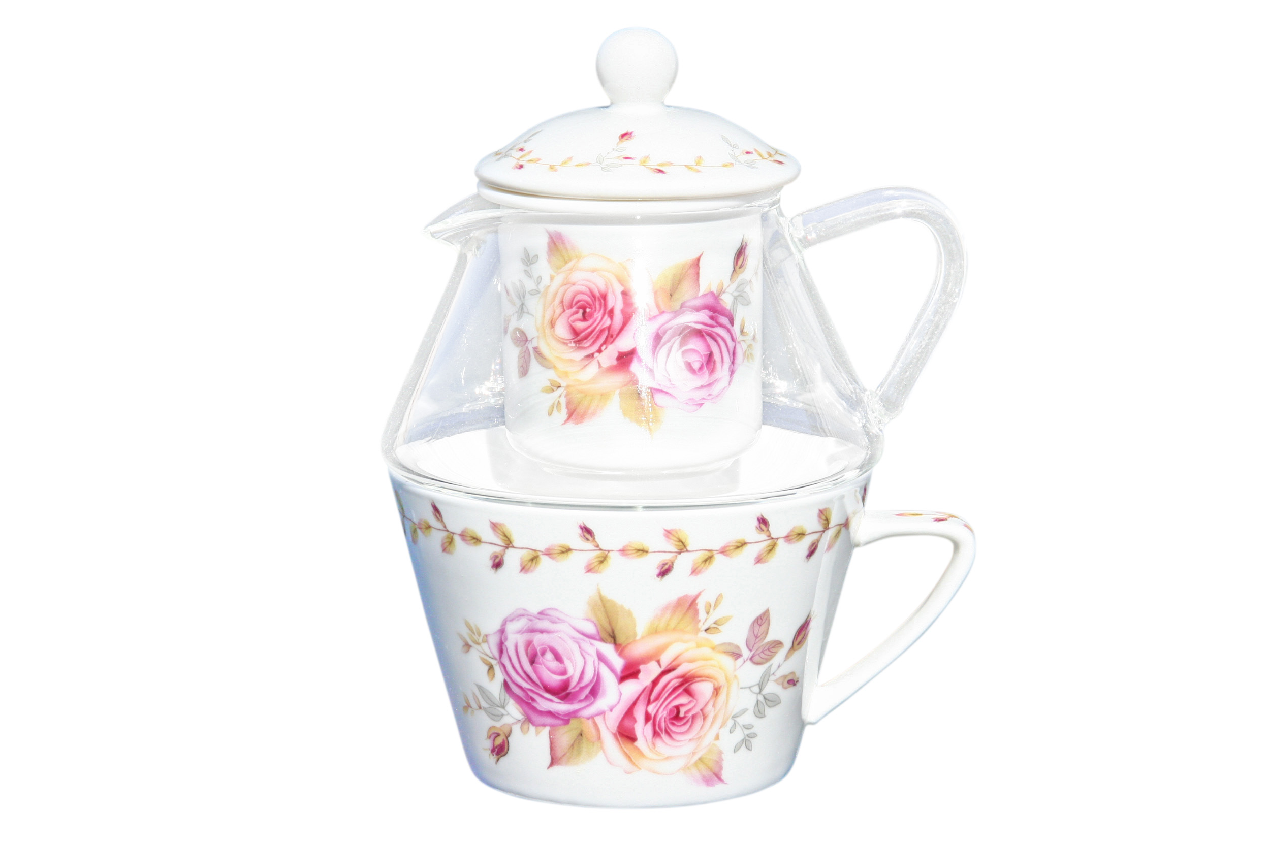 Glass/Porcelain T41 Romantic Rose