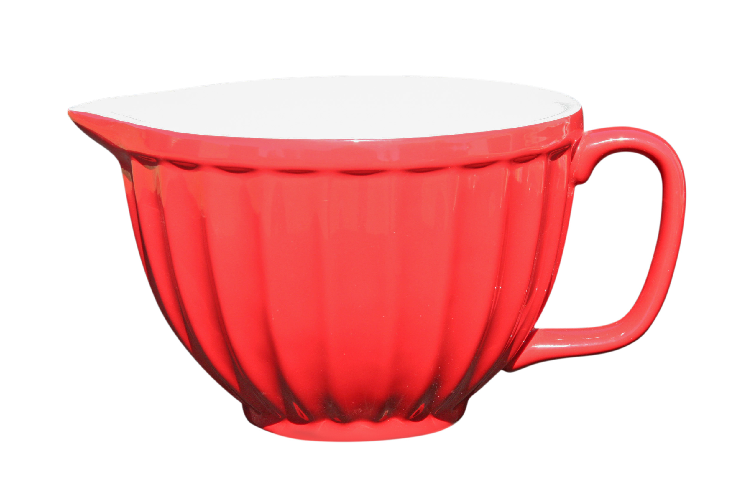 Teacup Mixing Bowl Large Red