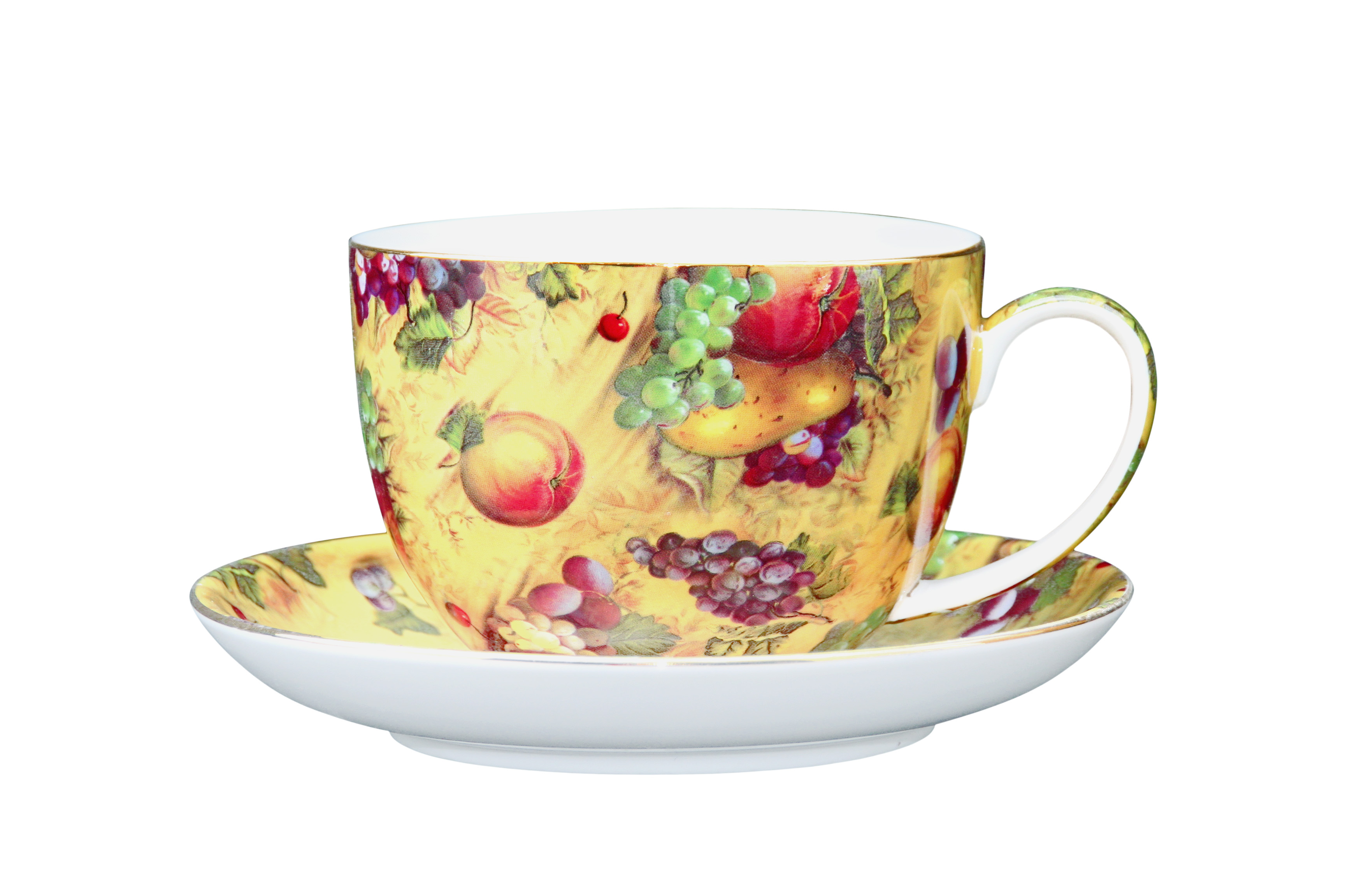 Country Fruit BIG cup and saucer set
