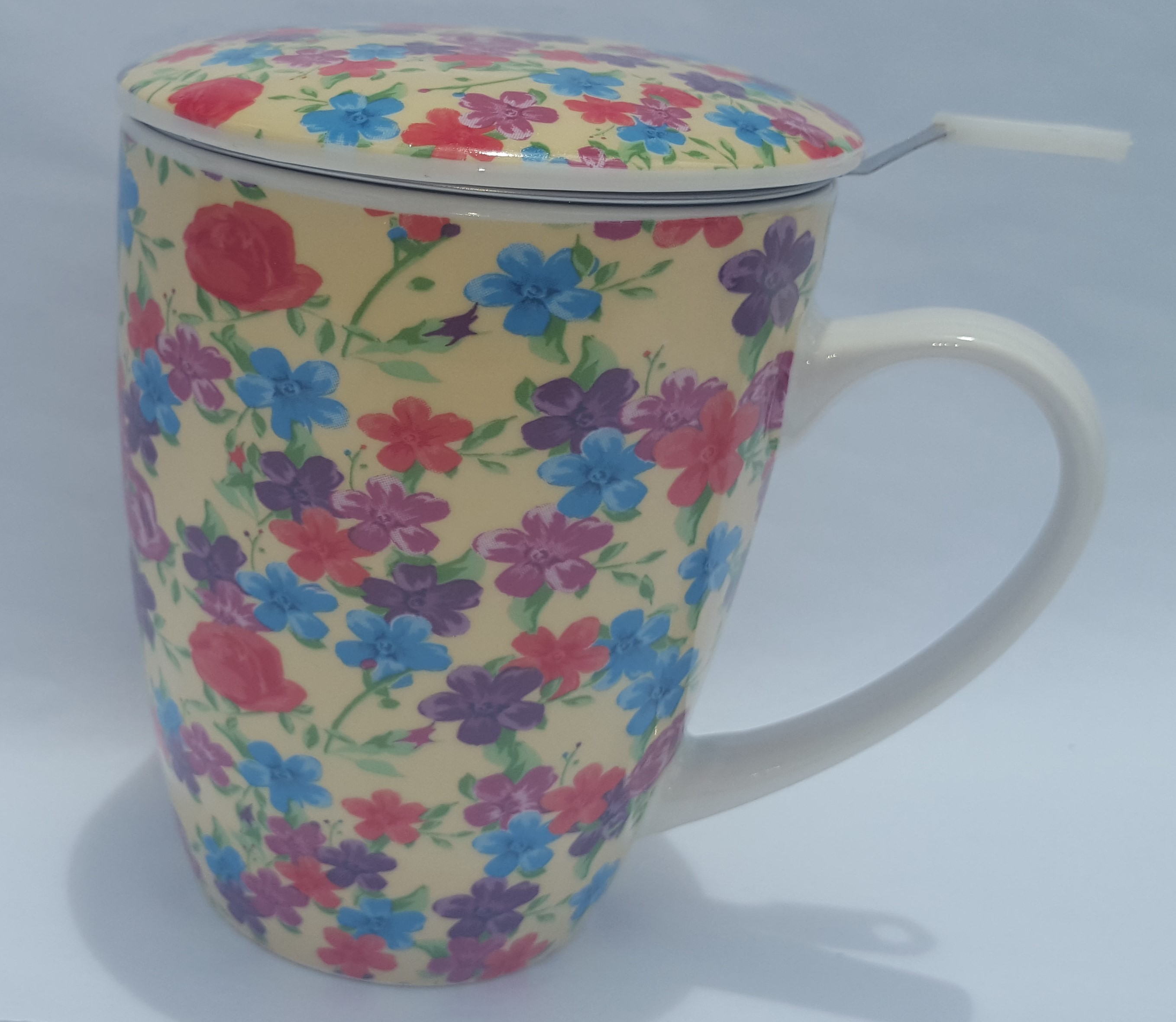 Cream Flower Garden Infused Beaker