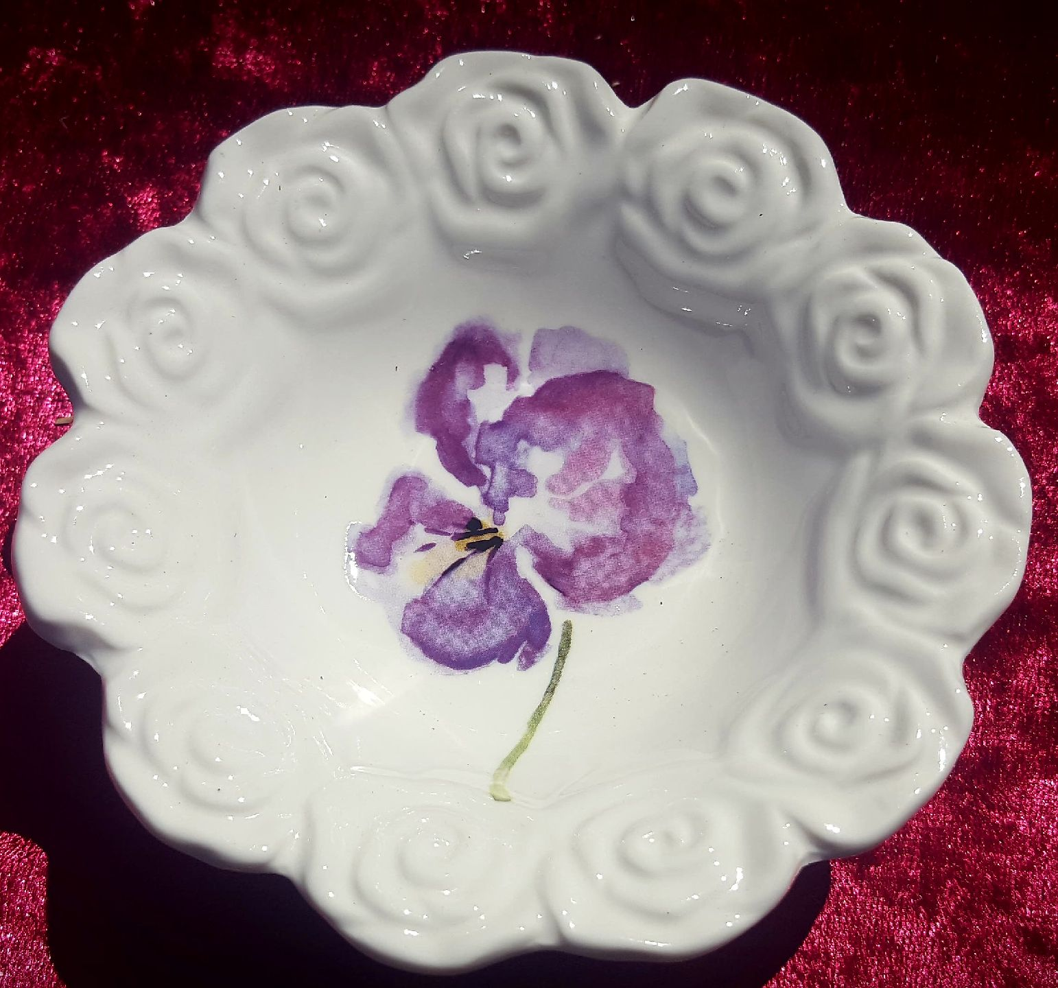 Pansy Candy Bowl