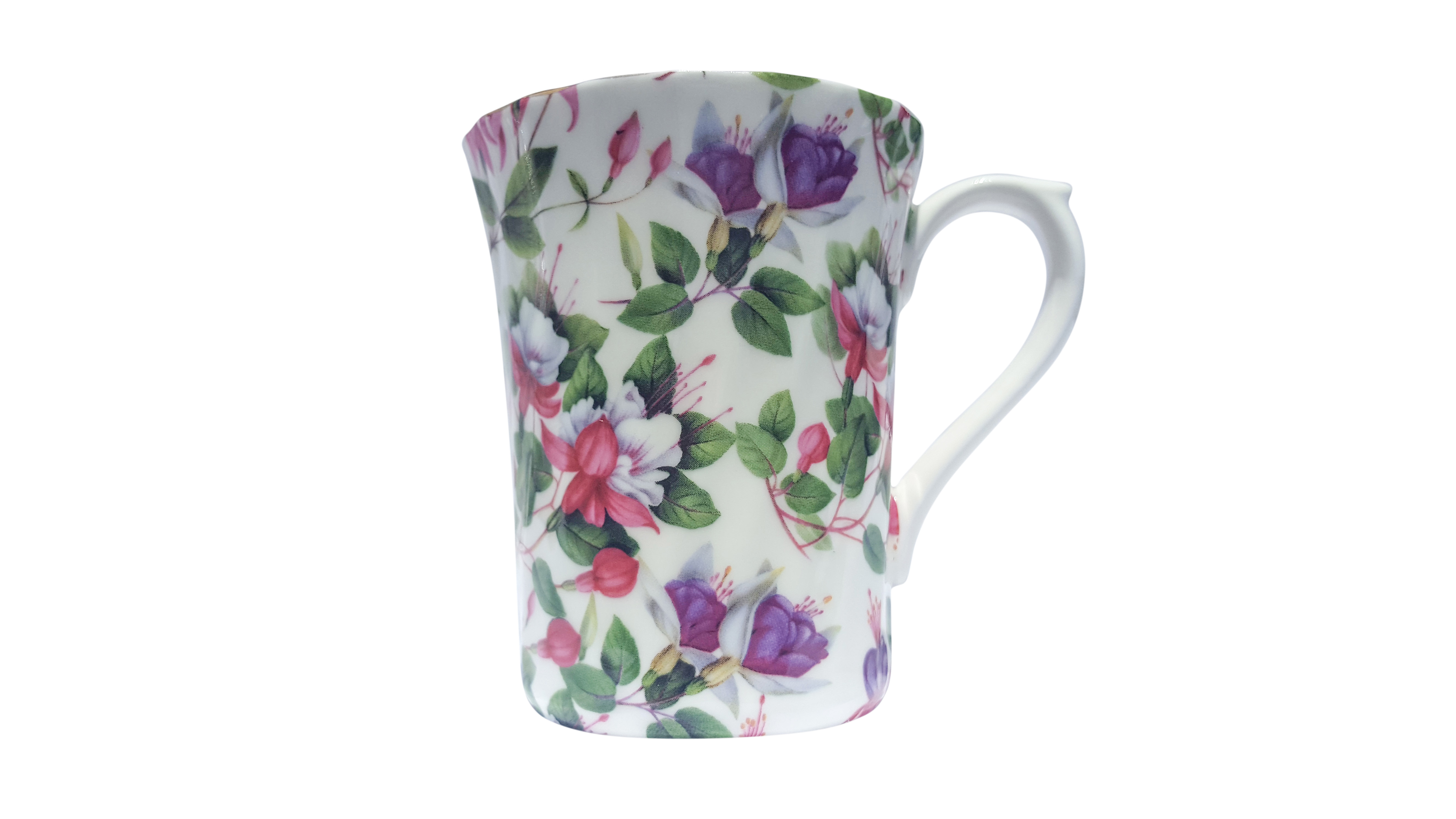 Fuchsia Bloom Chintz Mug